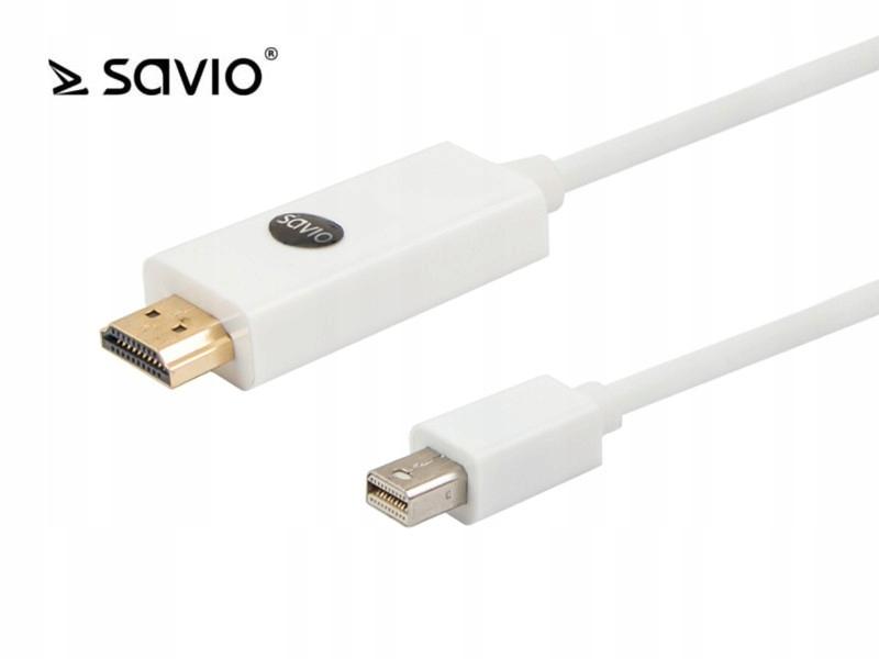 Kabel mini DisplayPort M - HDMI AM 3m SAVIO CL-84