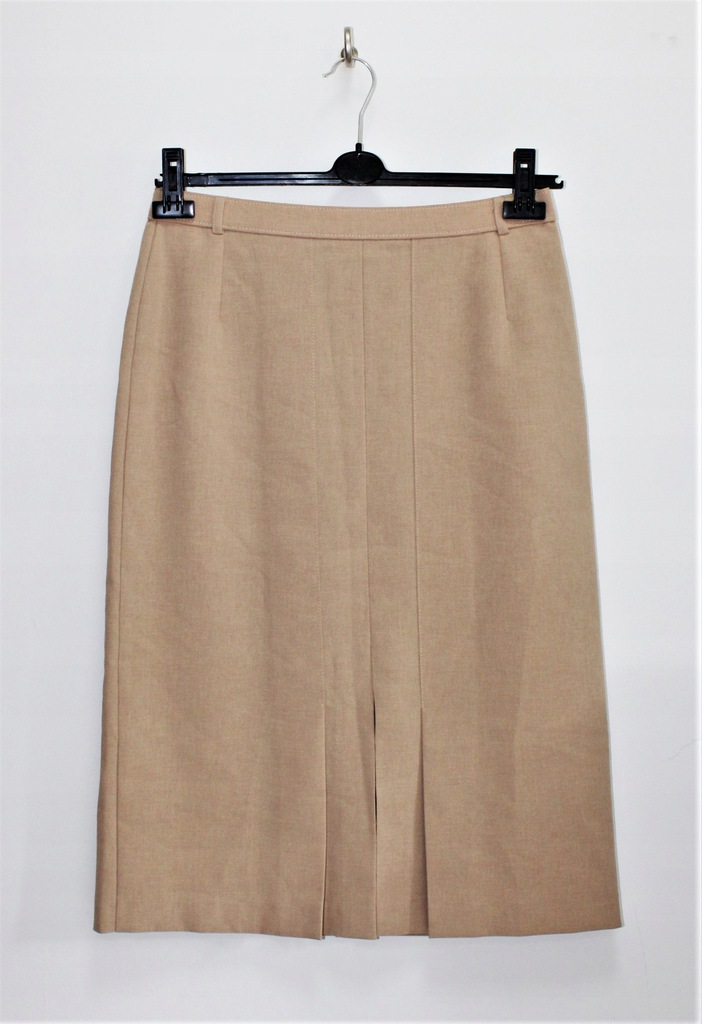 M&S beżowa spódnica plisowanie elegancka XL 42
