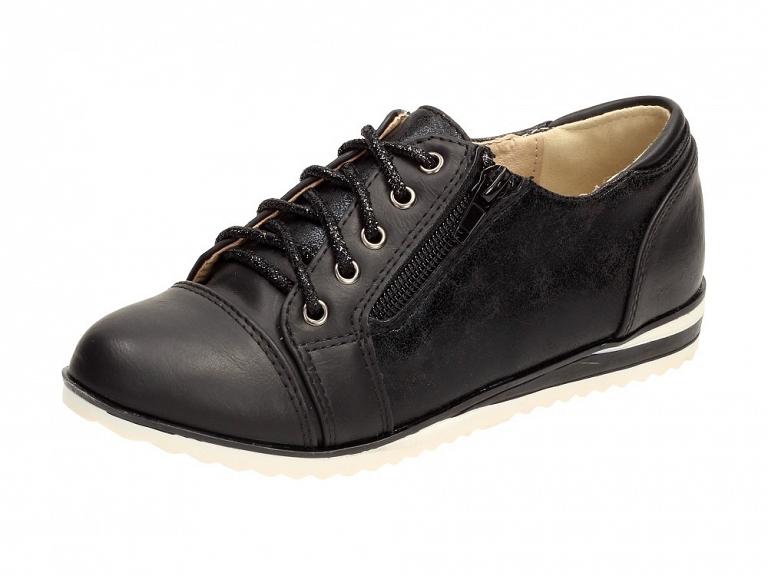 Czarne półbuty, buty dziecięce BADOXX 439 r36