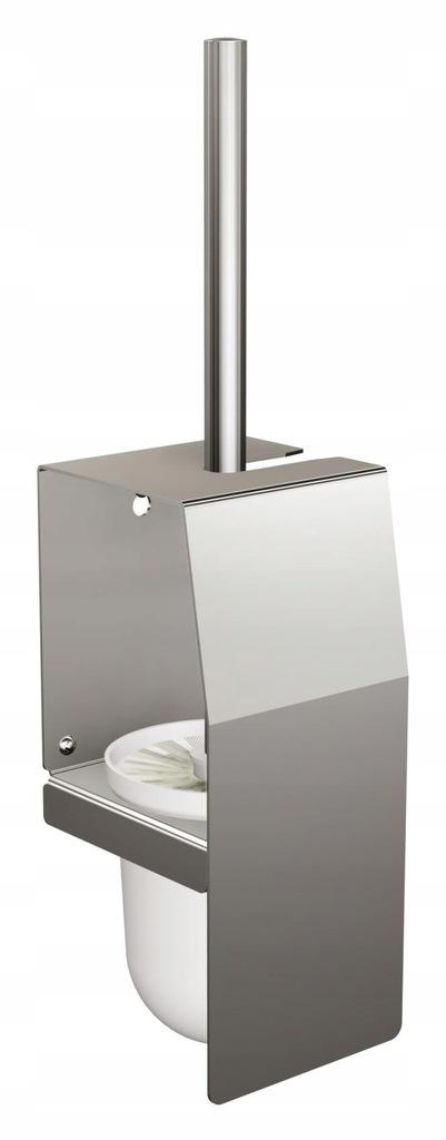 Szczotka do toalety WC z osłoną wisząca stal