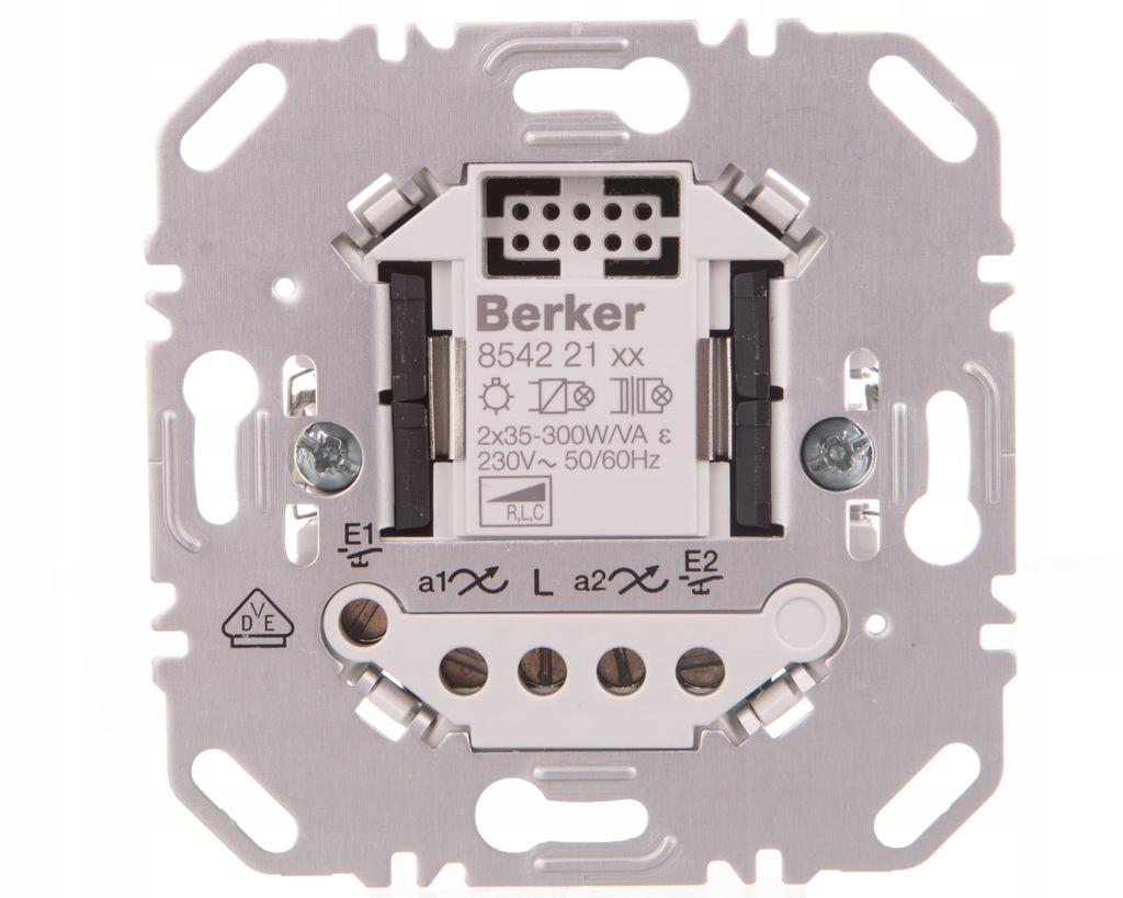 Ściemniacz uniwersalny przyciskowy 2-krotny biały
