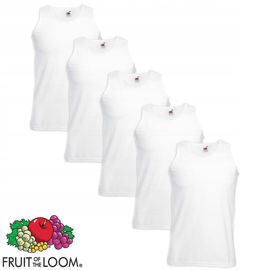 k9p Fruit ,5 koszulek bawełnianych białe, XXL