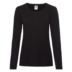 Koszulka damska DŁUGI RĘKAW VALUEWEIGHT czarna XL