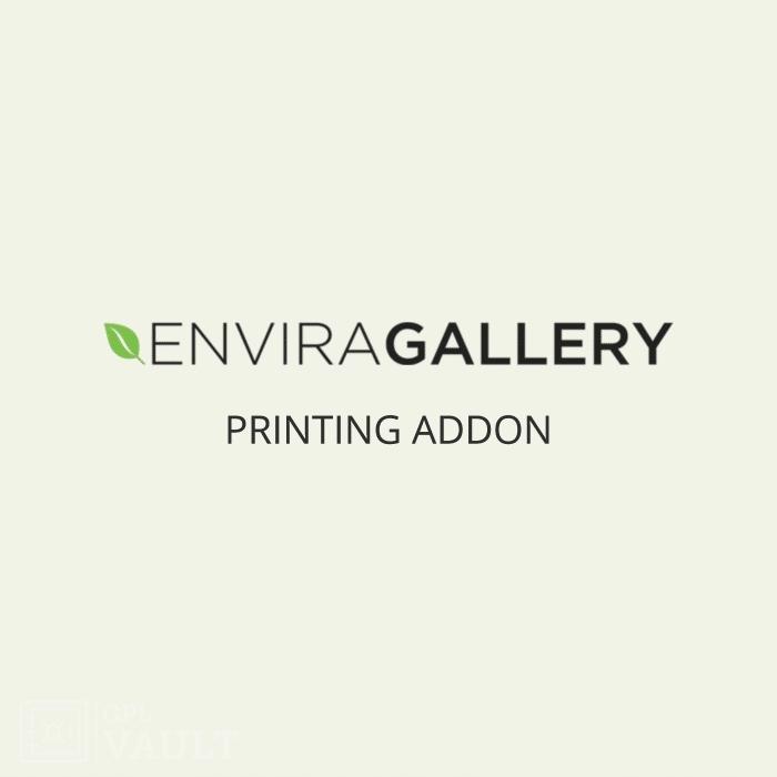 Wtyczka WordPress Envira Gallery Printing Add-On