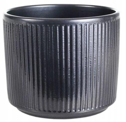 Doniczka Ceramiczna Osłonka CZARNY ANTRACYT 15 cm
