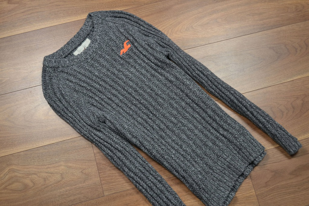 HOLLISTER ciepły sweter melanż M