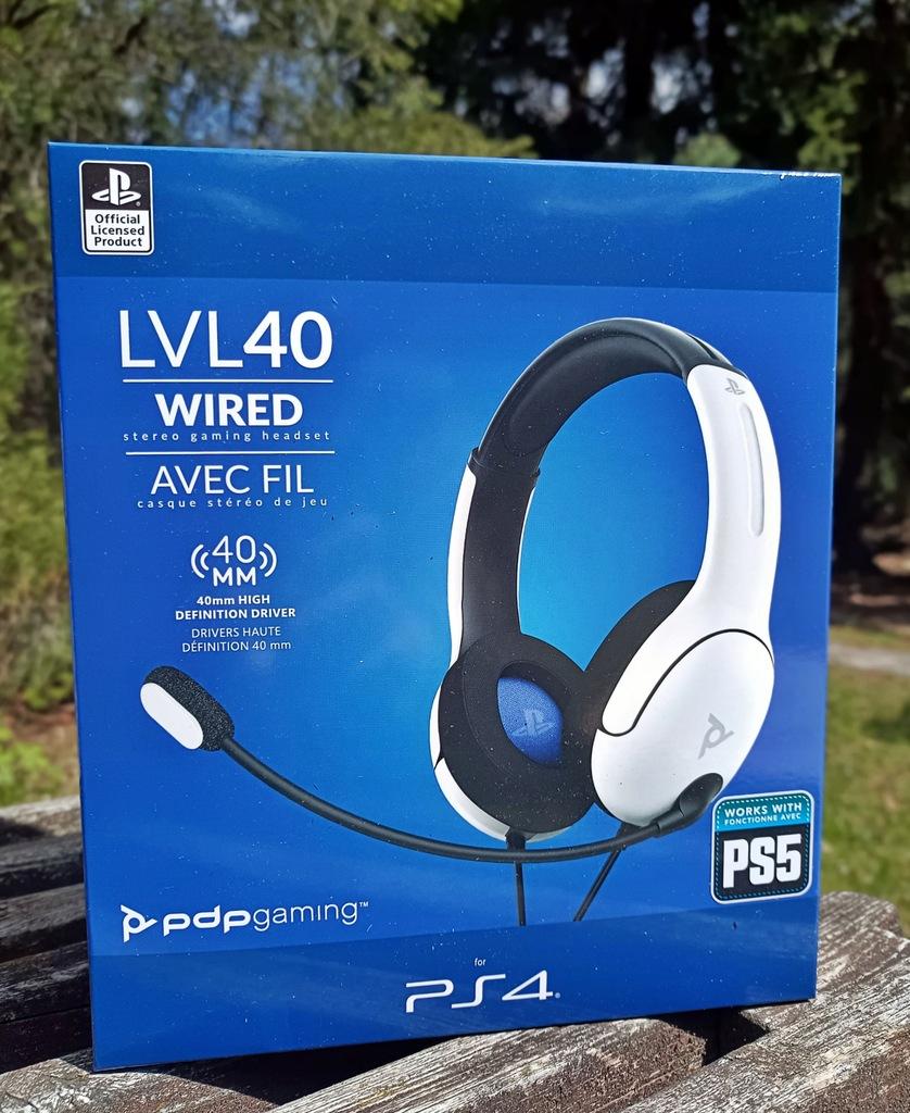 LVL40 PS5/PS4/PC Białe Nowa Gwarancja!