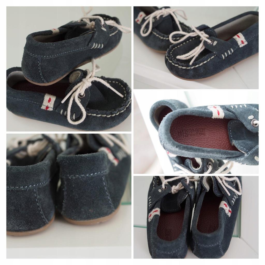 Mokasyny Zara skórzane niechodki r.19 buty