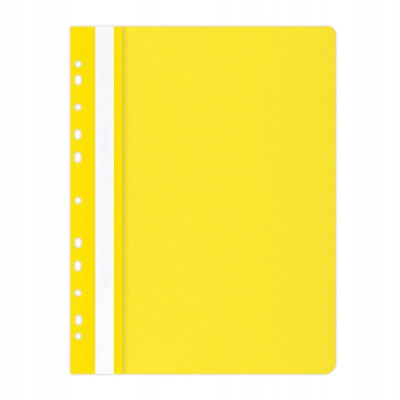 OFFICE PRODUCTS A4 100/170mikr. wpinany, żółty