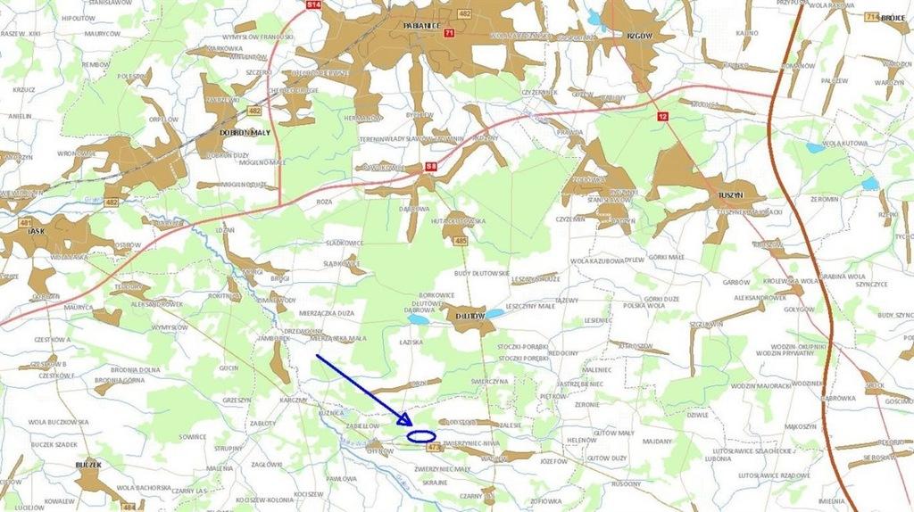 Działka, Drużbice (gm.), 8412 m²