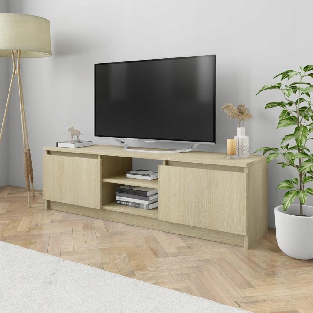 stradeXL Szafka TV, dąb sonoma, 120x30x35,5 cm, pł