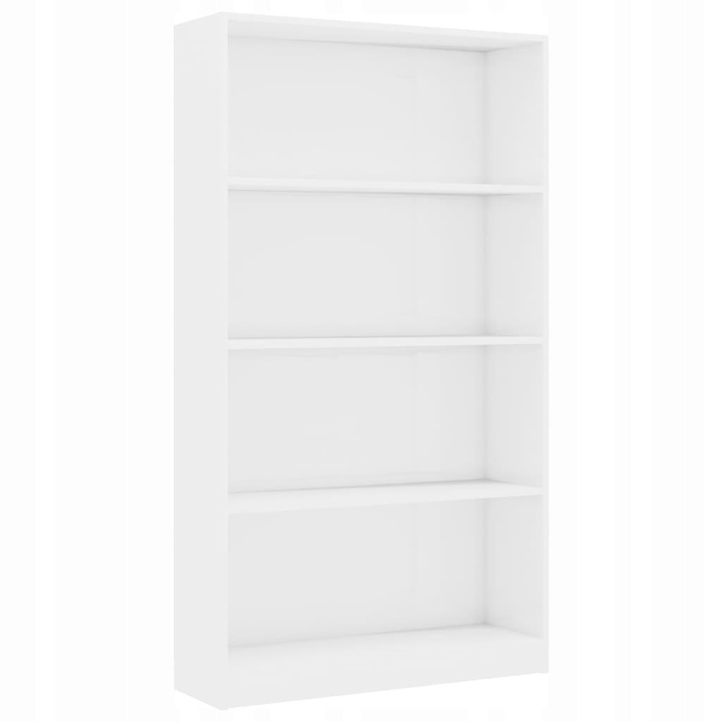 4-poziomowy regał, wysoki połysk, biały, 80x24x142