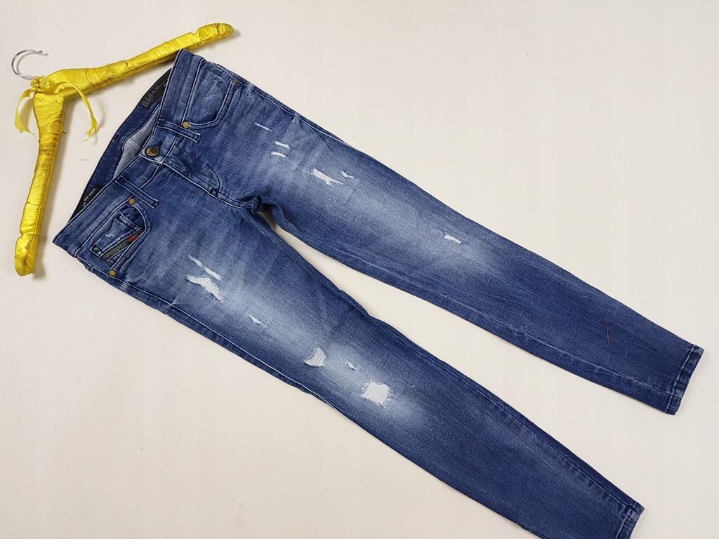 DIESEL ok.36/W27/L30 Jeans rurki przecierane