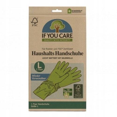 Wielorazowe rękawiczki lateksowe 1 Para Rozmiar L