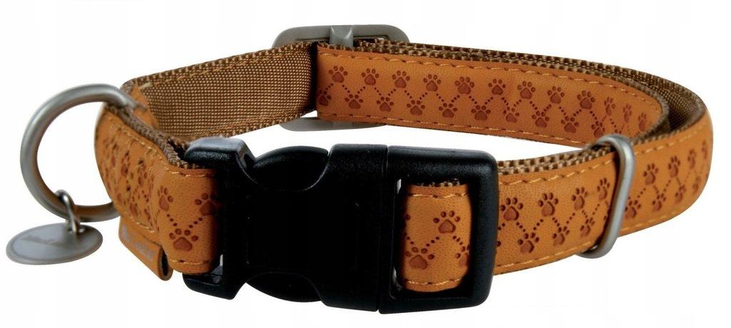 ZOLUX Obroża regulowana Mac Leather 10mm - kol. żó