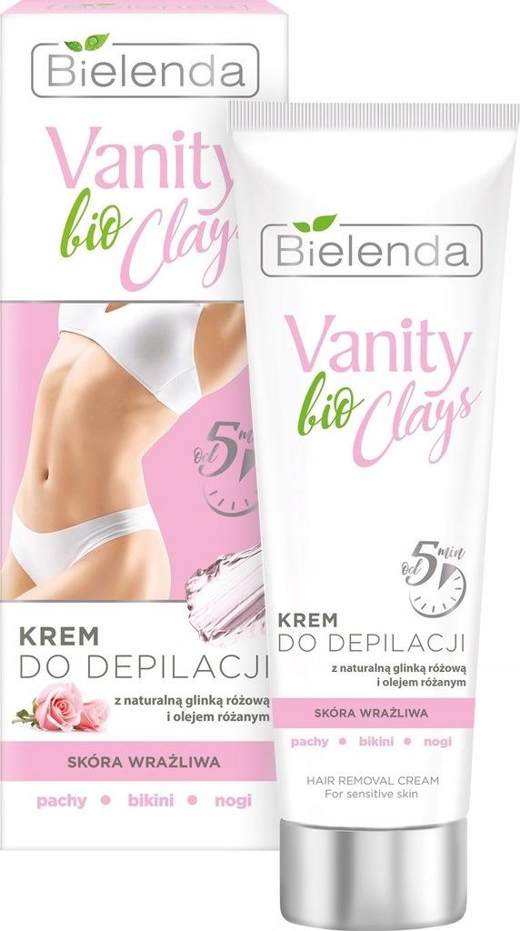 Bielenda Vanity bio Clays Krem do depilacji z różo