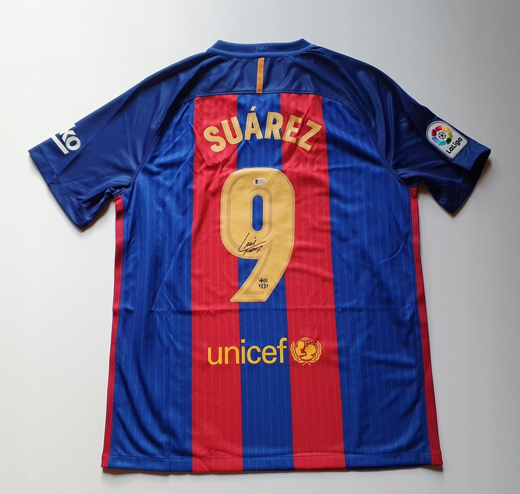 Suarez, FC Barcelona - koszulka z autografem (zag)