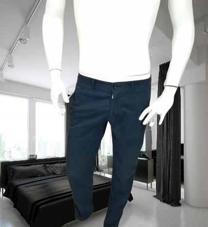 Hugo Boss granatowe spodnie 48