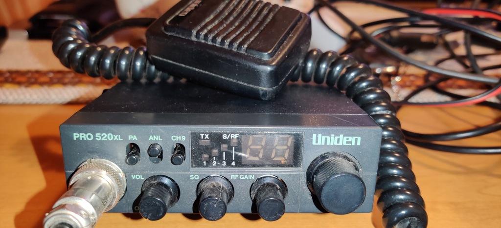Radio CB Uniden Pro 520xl + Antena i okablowanie