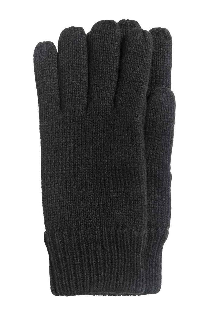 H&M Dzianinowe rękawiczki L/XL