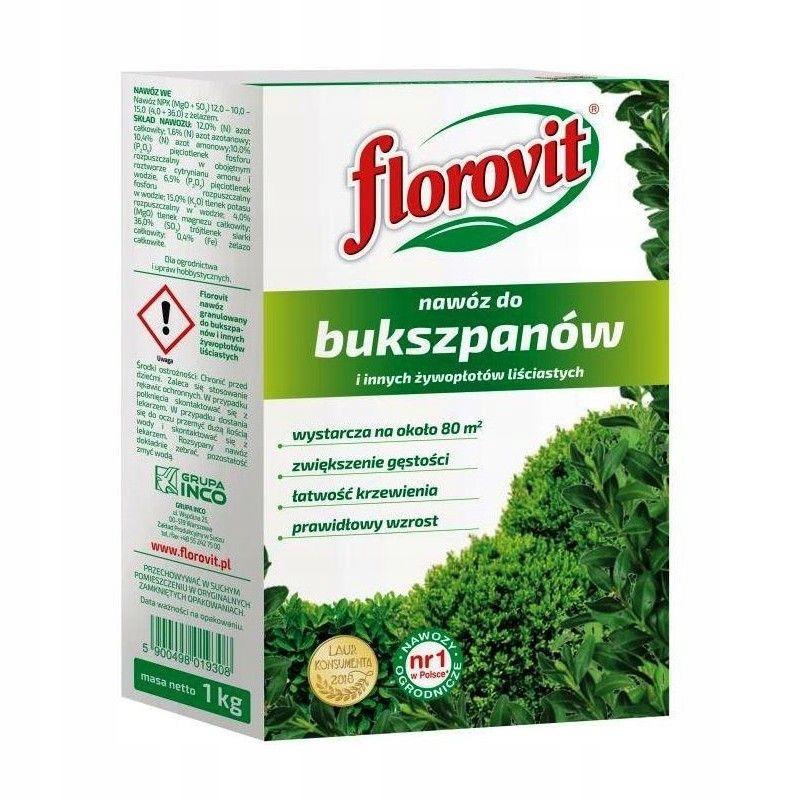 Nawóz Do Bukszpanów 1kg Karton Florovit