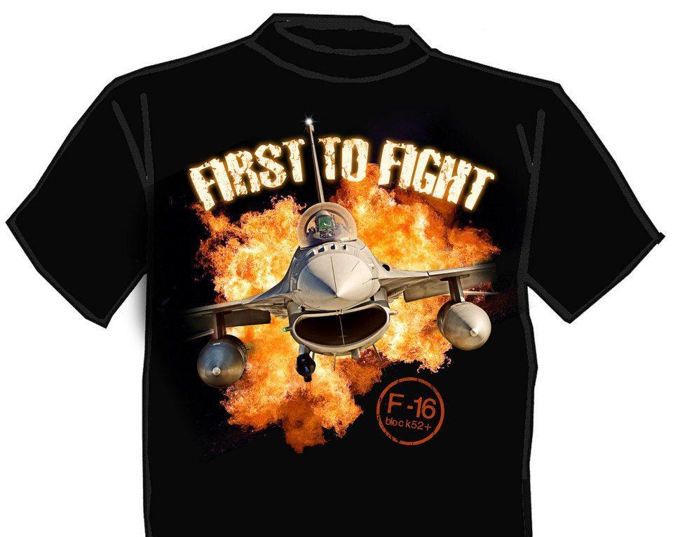 """2 SLT., Koszulka z F-16 """"First to fight"""""""