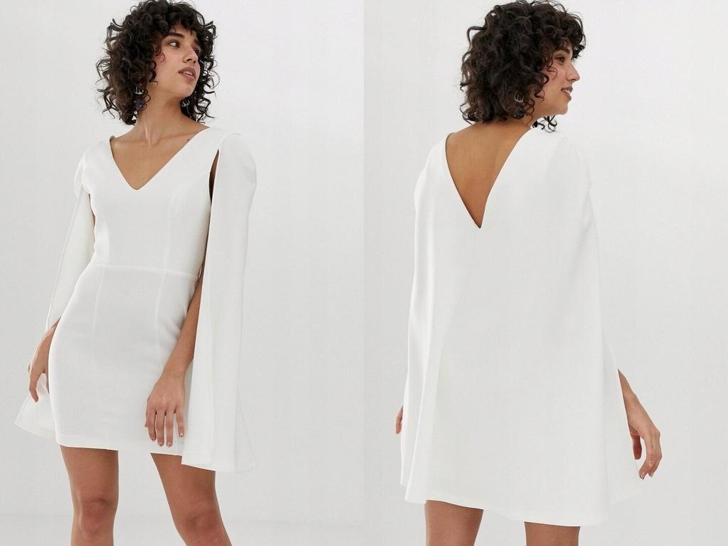 River Island - biała mini sukienka XL/42