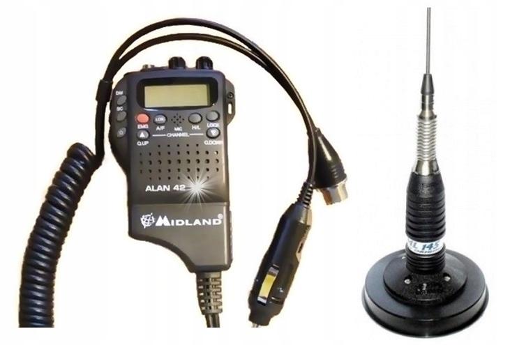 * RADIO CB MIDLAND ALAN 42 DS + ANTENA SIRIO ML145
