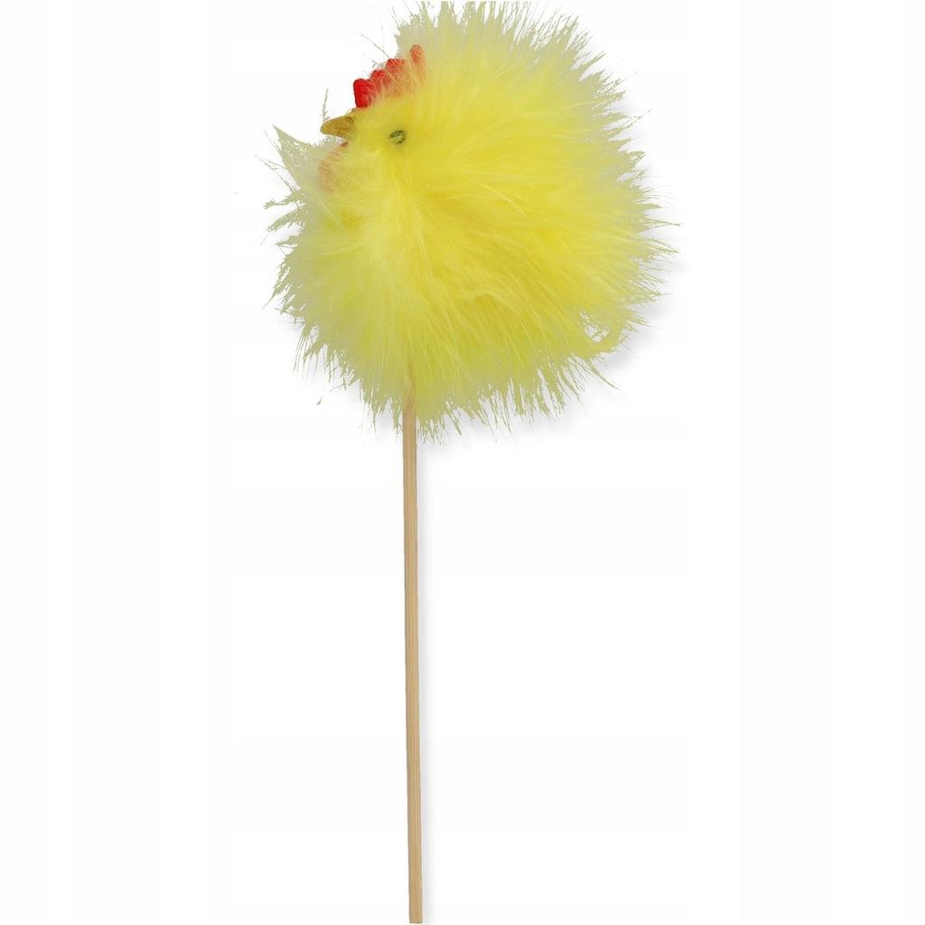 Kurczak wielkanocny żółty na piku 20 cm