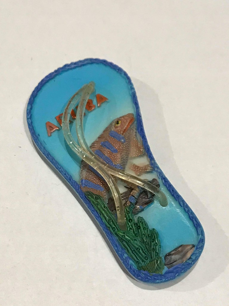 Magnes lodówkę magnez Klapek Aruba ceramika cudo