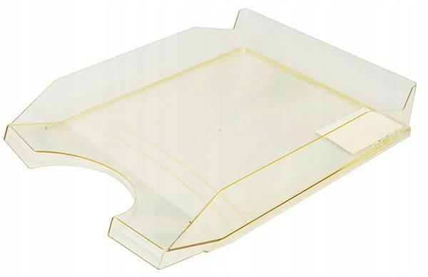 Szufladka na biurko transparentna żółta A4