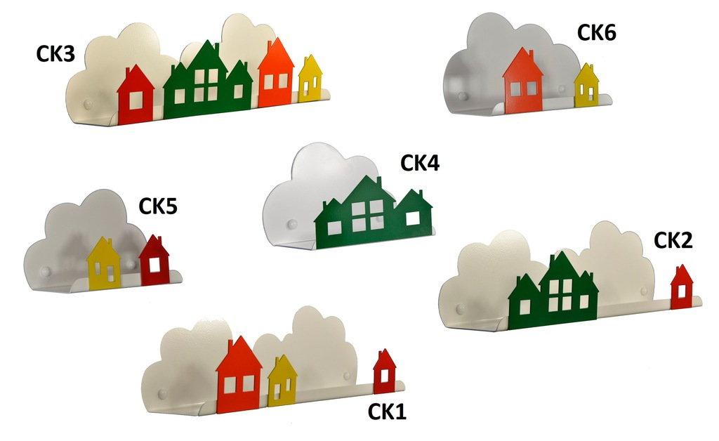 Półki Chmurki - Zestaw Półka Chmurka Kolorowe CK