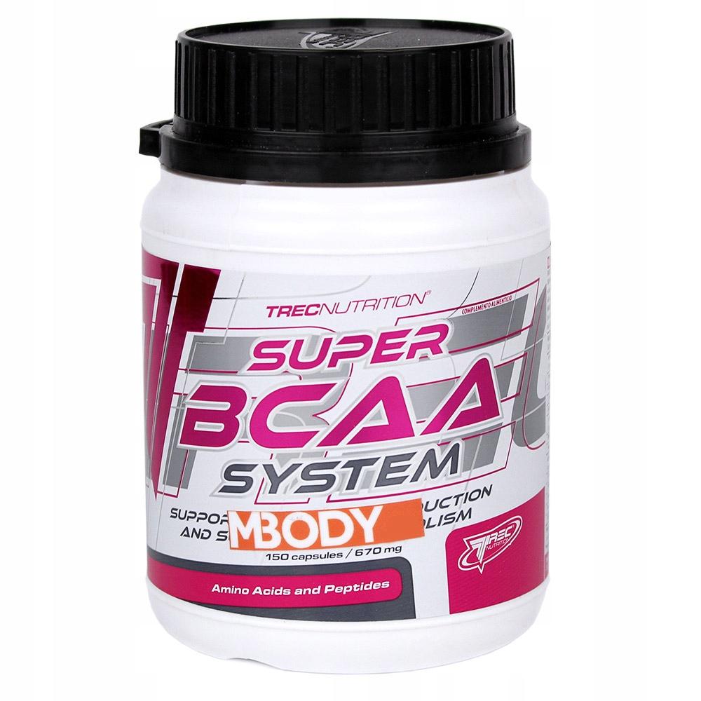 TREC SUPER BCAA SYSTEM 150 kaps AMINOKWASY BCAA