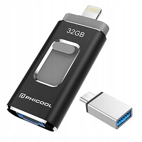 PENDRIVE PHICOOL PUD20 CZARNY USB 3.0 32GB