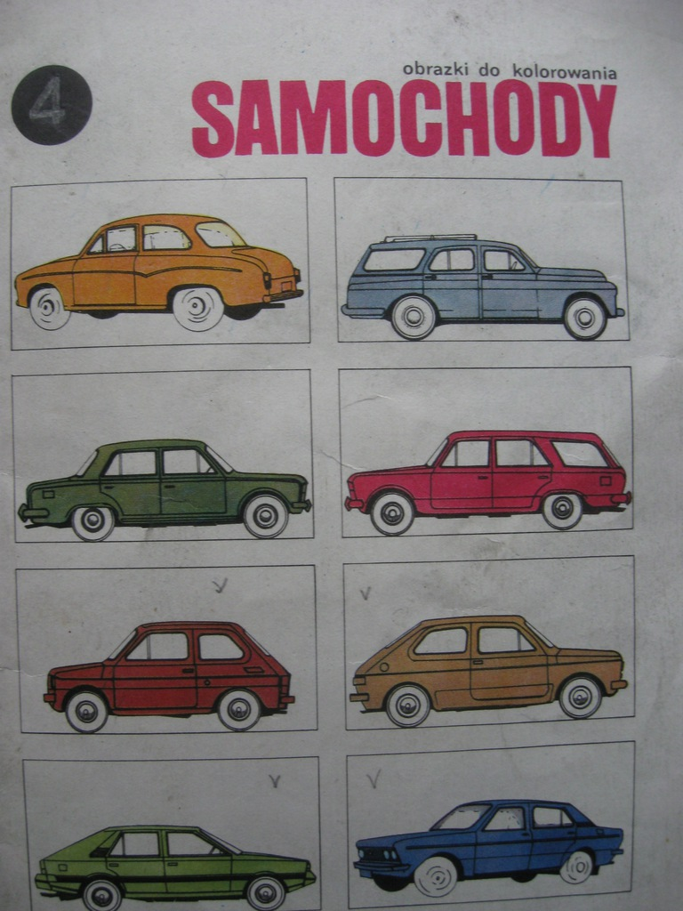 Samochody Prl Obrazki Do Kolorowania 1987 9018573646 Oficjalne Archiwum Allegro