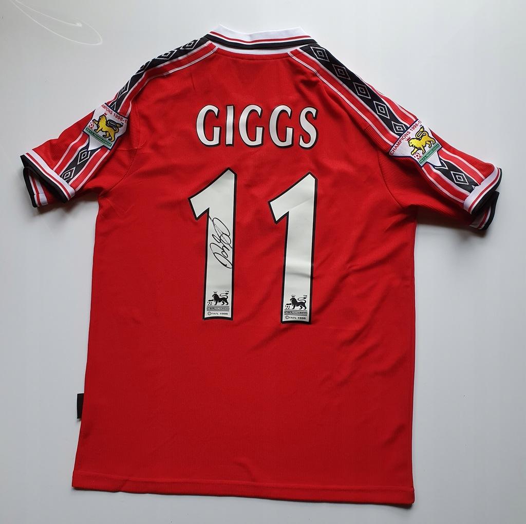 Giggs, Manchester U. - koszulka z autografem (zag)