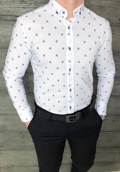 Biala meska koszula Imaginazzi w pilki XL 7798698298  pqcR9