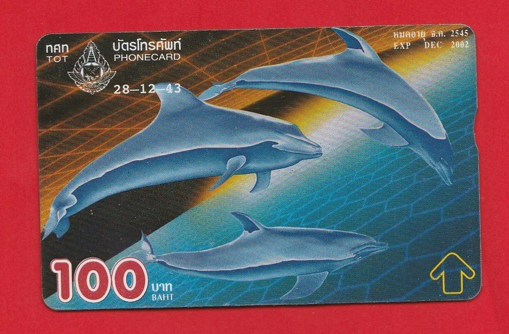 TAJLANDIA fauna delfine / seria 141C