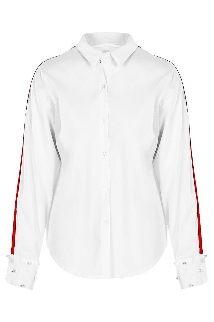 Koszula z czerwonym lampasem SELENA one size