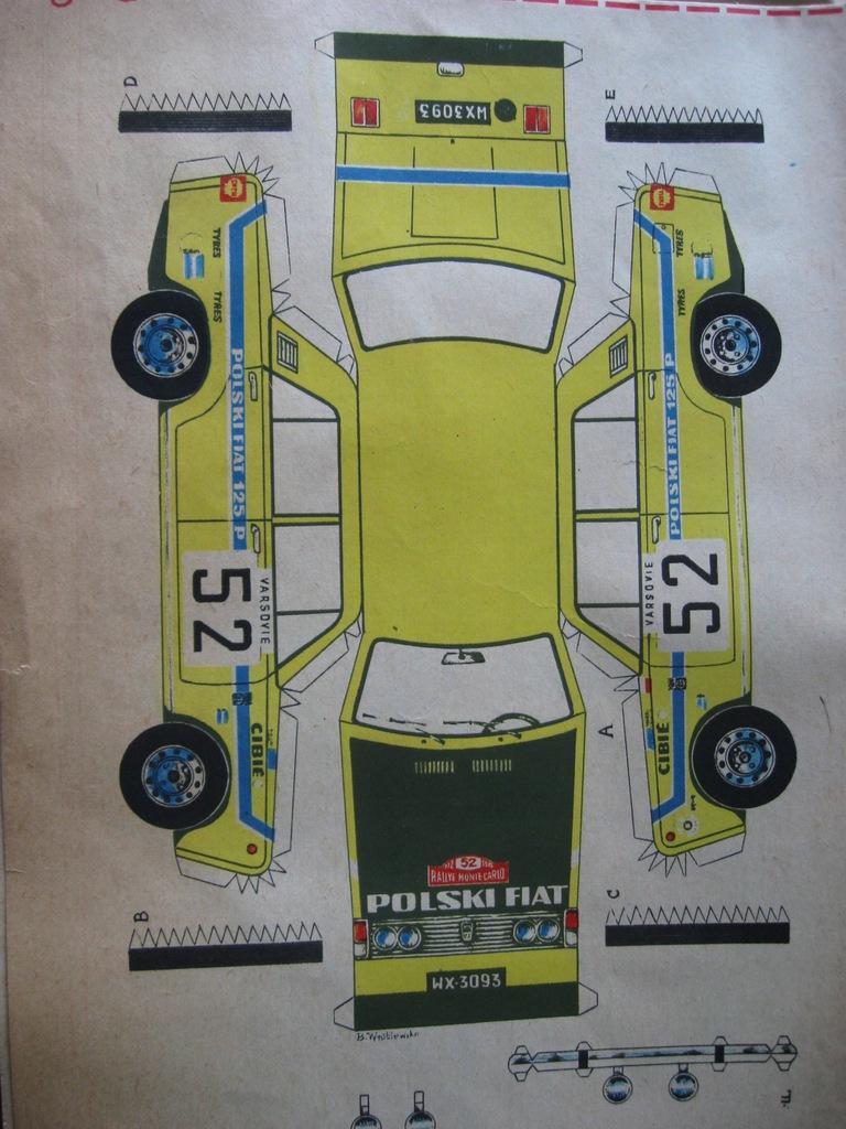 POLSKI FIAT 125p Rally Monte Carlo do sklejenia