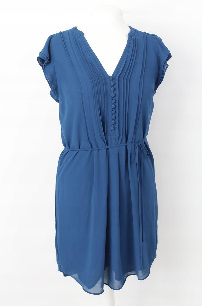 Sukienka turkusowa H&M 36 s 165 szyfonowa