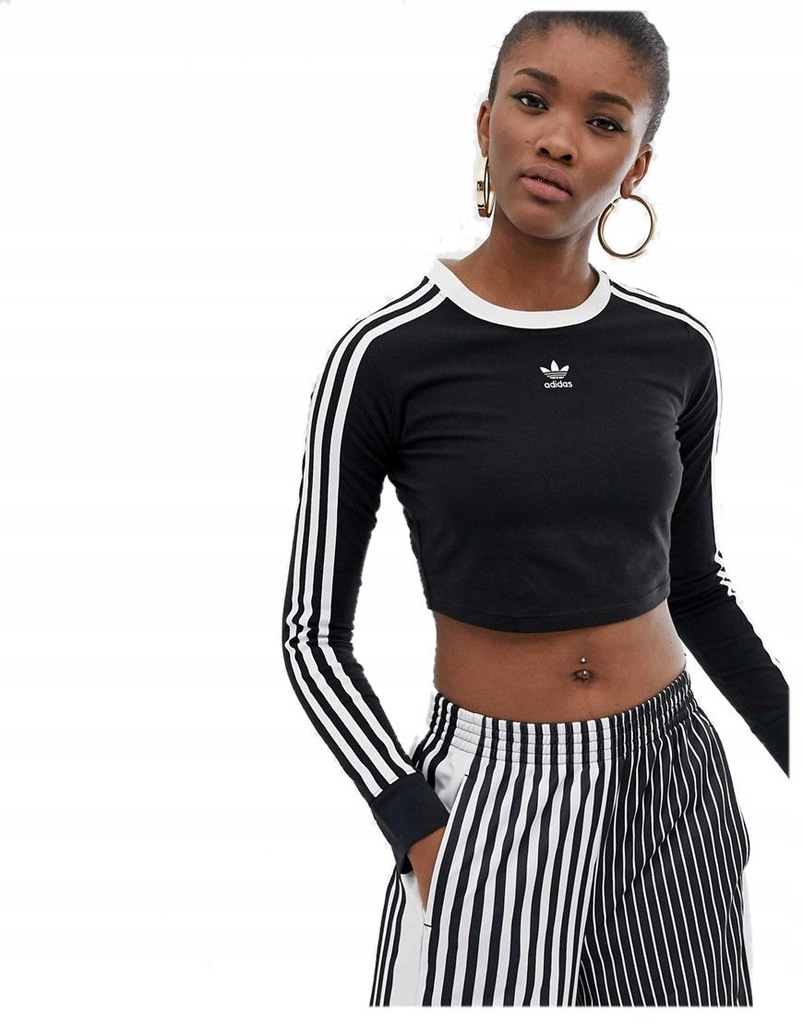 Adidas Originals Bluzka Top Czarna Krotka 34 7787148845 Oficjalne Archiwum Allegro