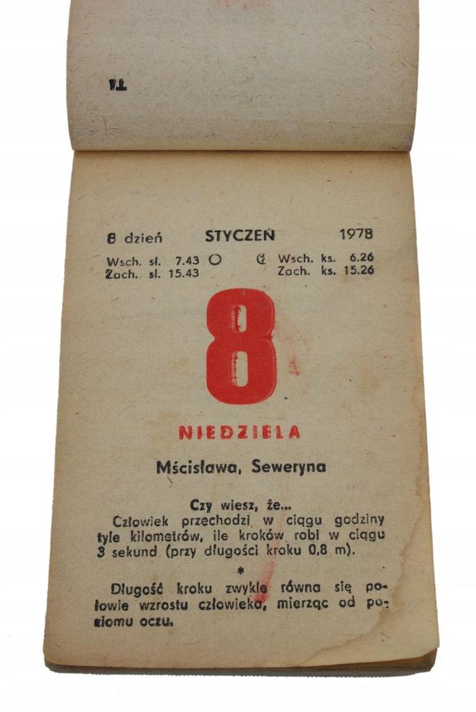 42 urodziny prezent kartka kalendarz zdzierak 1978