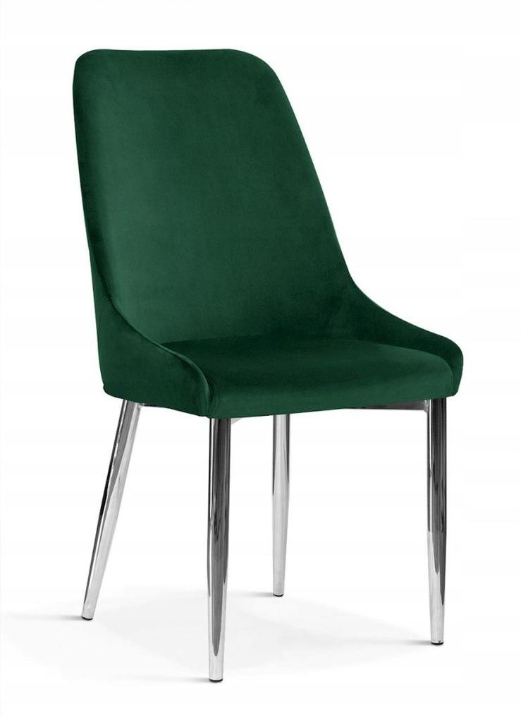 Krzesło OLIVIER M zielony/ noga chrom/ BL78