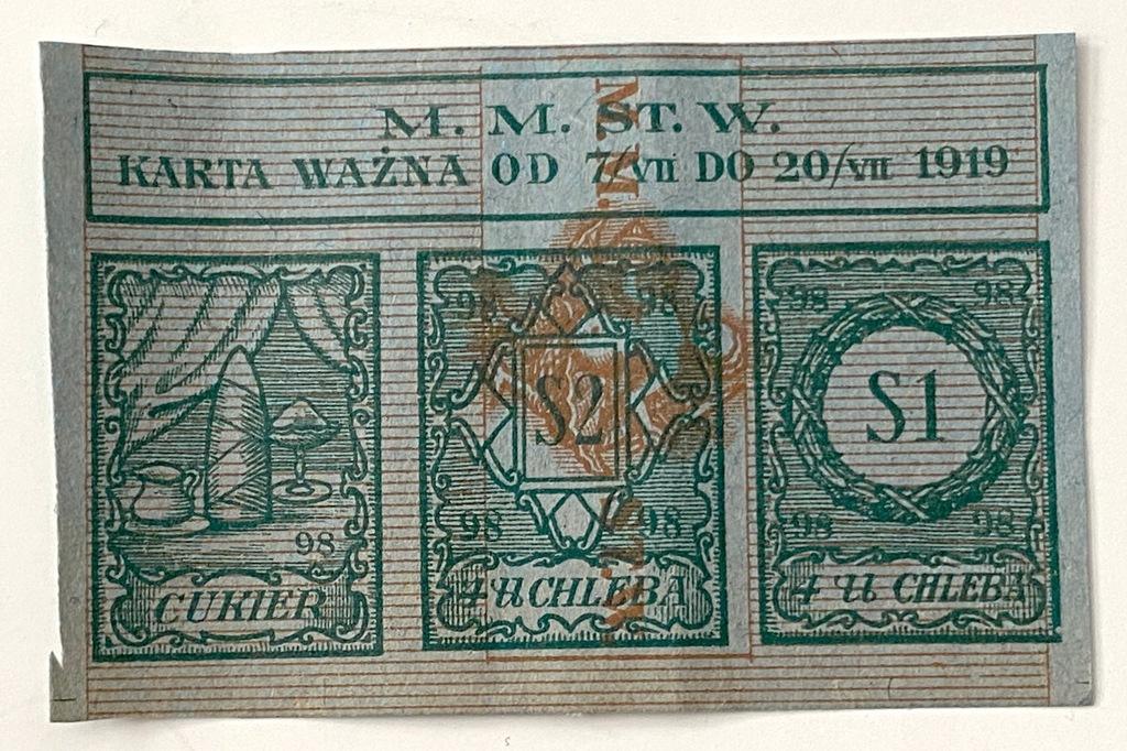 3681. Warszawa okres 98 - mała na chleb i cukier