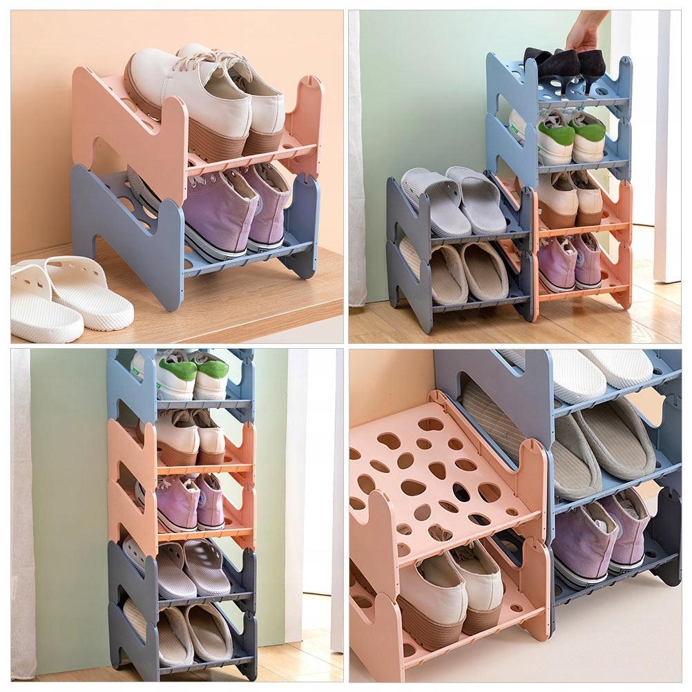 1 pc plastikowy stojak na buty kreatywny półka na