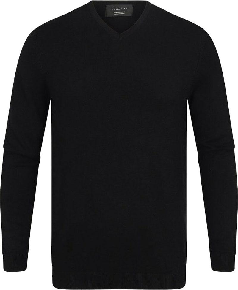 Sweter męski ZARA MAN v neck, w serek, rozmiar L, 40