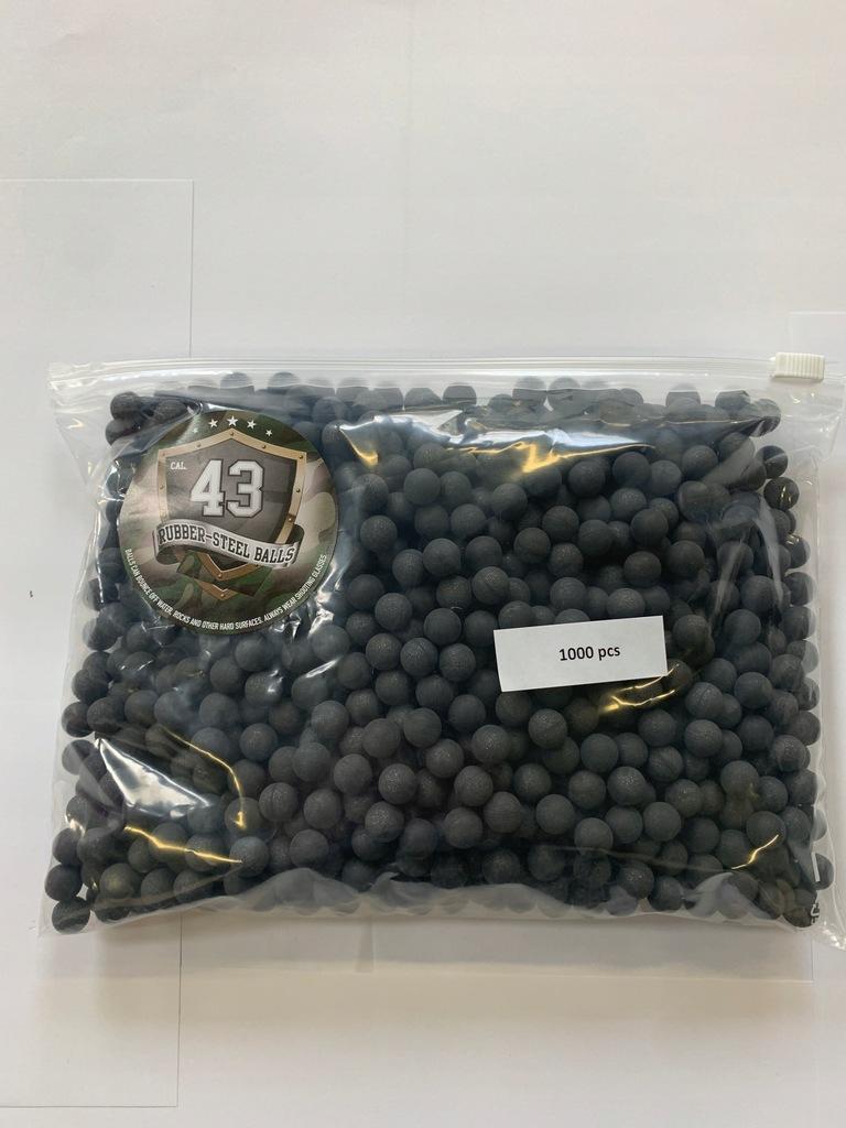 Kule gumowo-metalowe Rubber-steel balls .43 cal