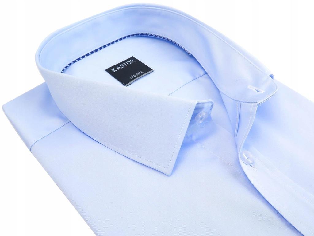 Błękitna koszula krótki rękawe 176-182 42-REG K71