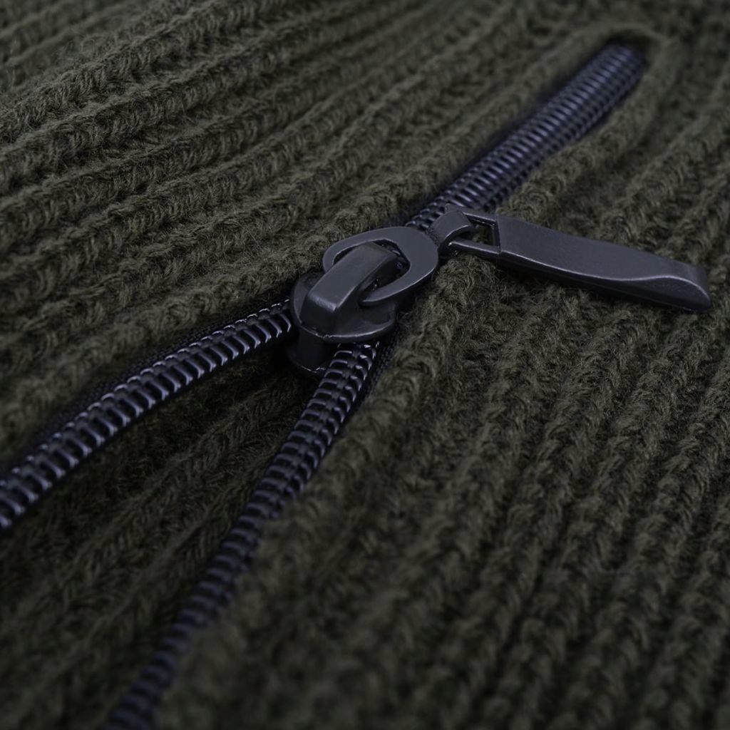 Sweter męski do pracy, ciemnozielony, rozmiar XXL